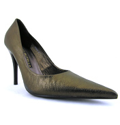 Bronze Leather Court Shoe