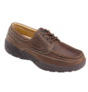 Dr Comfort Patrick Classic Deck Shoes in Brown…